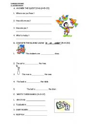 English worksheet: quiz for young learners