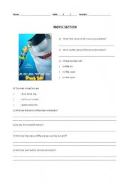 English Worksheets: Movie Section - Shark Tales