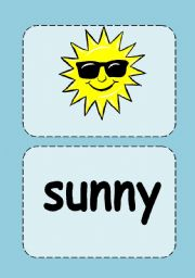 Weather flashcards (with words separate)