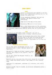 English Worksheet: Positive and negative movie critics (Avatar...)