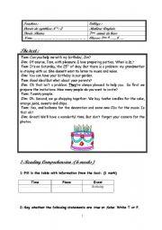 English Worksheet: full- term test n 2 (7th form)