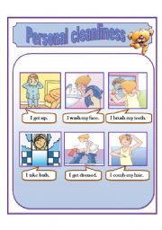 English Worksheets: personal cleanliness