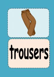 Clothes flashcards (2/3)