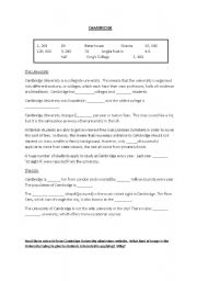 English Worksheets: Cambridge