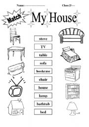 my house esl worksheet by h123. Black Bedroom Furniture Sets. Home Design Ideas