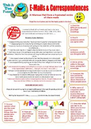E-Mails & Correspondences - Reading & Writing activities with 11 questions