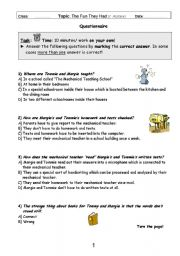 English Worksheets: The Fun They Had - Comprehension questions