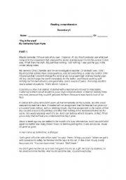 English Worksheets: Pay it forward reading comprehension