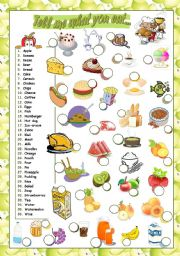 English Worksheets: TELL ME WHAT YOU EAT... (2)