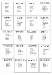 English Worksheet: Taboo