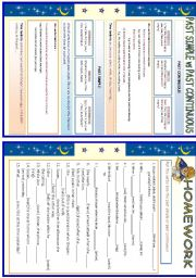 English Worksheet: Past Simple vs Past Continuous