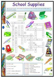 English Worksheet: School Supplies