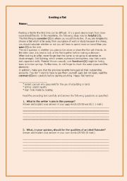 English Worksheets: Renting a flat