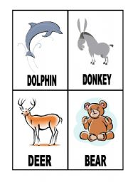 English Worksheets: 24 Flashcards with Animals (3/3)