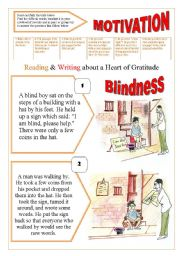 BLINDNESS & MOTIVATION - Reading & comprehension + 11 activities