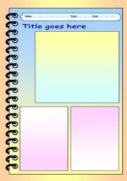 English worksheet: Free Worksheet Template & Layout Collection