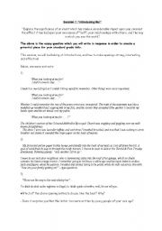 English Worksheets: Writing a bold intro - personal writing