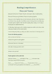 English Worksheets: Dana and Tammy