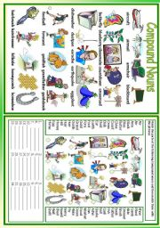 English Worksheets: Compound Nouns (1/2)