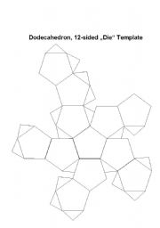 English worksheet: Dodecahedron Dice Template