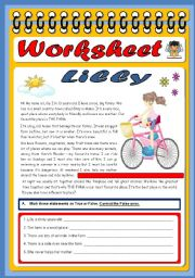 English Worksheet: Reading Comprehension exercise