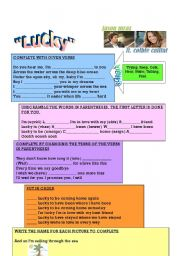 English Worksheet: Lucky song by Jason Mraz ft. Colbie Caillat