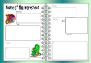 English worksheet: Worksheet Template (Landscape)