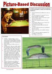 English Worksheet: Picture-Based Discussion (21): Pastime Activities/Hobbies