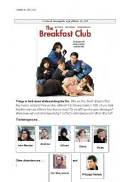 Breakfast club essay questions