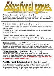 English worksheet: educationl  games