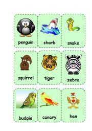English Worksheets: Animals III