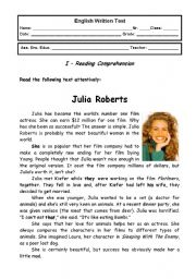 English Worksheet: Jobs - 9th grade test