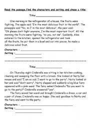 Printables Character And Setting Worksheets find the characters and setting