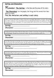 Printables Character And Setting Worksheets find the setting of a story worksheets intrepidpath english teaching reading prehension