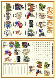 English Worksheets: Group Nouns
