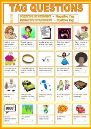 English Worksheets: Tag Questions - with keys