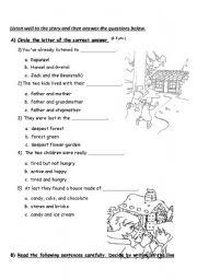 Hansel And Gretel Worksheets