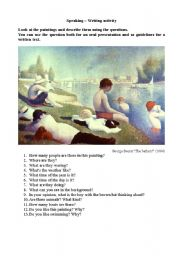 English Worksheets: Paintings description