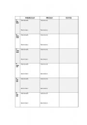 English Worksheets: Agenda - page 2