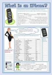 English Worksheets: iPhone