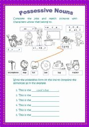 Grammar worksheets > Nouns > Possessive nouns