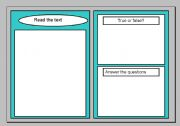 English Worksheets: Reading comprehension template