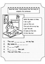 English Worksheets: This cat