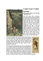 English Worksheets: Uncle Tom´s Cabin