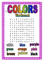Colors Wordsearch