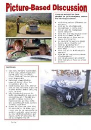 English Worksheet: Picture-Based Discussion (22): Driving
