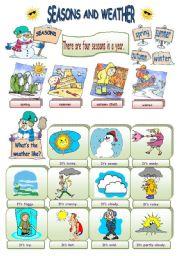 English Worksheet: Seasons and Weather