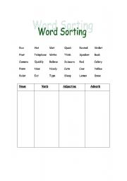 picture relating to Printable Word Sorts named English worksheets: Term Sorting
