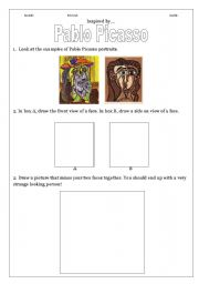 English Worksheet: Examining the art of Pablo Picasso