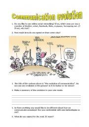 English Worksheets: Communication evolution